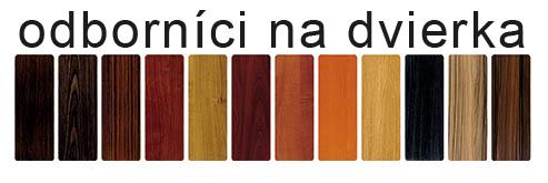Dvierka wiech farby
